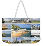 Isle Of Wight Collage - Labelled Weekender Tote Bag