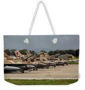 Israeli Air Force F-16`s Of Three Weekender Tote Bag