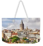 Istanbul Cityscape And Galata Tower Weekender Tote Bag
