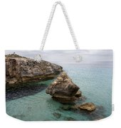 It Rocks 2 - Close To Son Bou Beach And San Tomas Beach Menorca Scupted Rocks And Turquoise Water Weekender Tote Bag