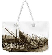Italian Fishing Boats Fishermen's Wharf San Francisco Circa 1903 Weekender Tote Bag