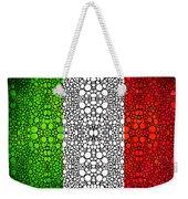 Italian Flag - Italy Stone Rock'd Art By Sharon Cummings Italia Weekender Tote Bag