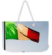 Italian Flag Weekender Tote Bag
