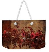 Italian Impasto Style Coral Floral Branch Weekender Tote Bag