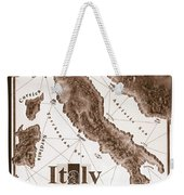 Italian Map Weekender Tote Bag