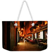 Bologna Italy Night  Scene Weekender Tote Bag