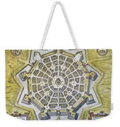 Italy: Palmanova Map, 1598 Weekender Tote Bag