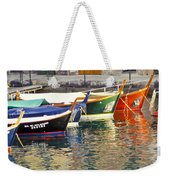 Italy Portofino Colorful Boats Of Portofino Weekender Tote Bag