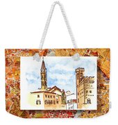 Italy Sketches Florence Towers Weekender Tote Bag