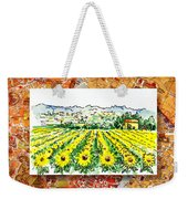 Italy Sketches Sunflowers Of Tuscany Weekender Tote Bag