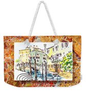 Italy Sketches Venice Canale Weekender Tote Bag