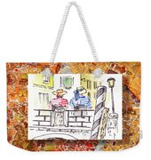 Italy Sketches Venice Two Gondoliers Weekender Tote Bag
