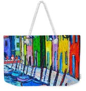 Italy - Venice - Colorful Burano - The Right Side  Weekender Tote Bag