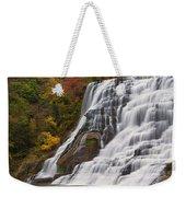 Ithaca Falls In Autumn Weekender Tote Bag
