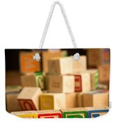 Its A Girl - Alphabet Blocks Weekender Tote Bag