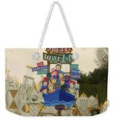 Its A Small World Fantasyland Signage Disneyland Weekender Tote Bag