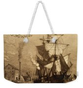 It's Five O'clock Somewhere Schooner Weekender Tote Bag