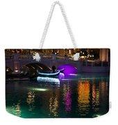 It's Not Venice - Brilliant Lights Glamorous Gondolas And The Magic Of Las Vegas At Night Weekender Tote Bag