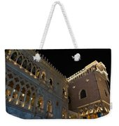 It's Not Venice - The Famous Venetian Las Vegas At Night Weekender Tote Bag