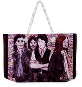 It's Only A Northern Song Bordered Weekender Tote Bag