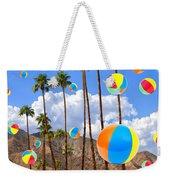 Its Raining Beach Balls Palm Springs Weekender Tote Bag