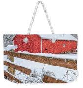 It's Snowing Square Weekender Tote Bag by Bill Wakeley