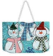 It's Snowtime Weekender Tote Bag
