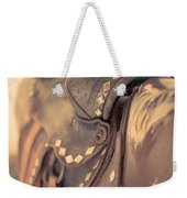 It's The Way You Ride The Trail Dale Evans Quote Weekender Tote Bag by Edward Fielding