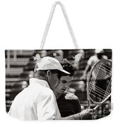 Ivan Lendl And Andy Murray  Weekender Tote Bag by Nishanth Gopinathan