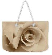 Ivory Brown Rose Flower Weekender Tote Bag
