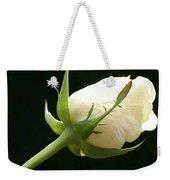 Ivory Rose Bud Weekender Tote Bag