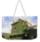 Ivy Covered Cottage Weekender Tote Bag