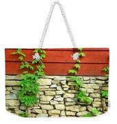 Ivy On Stone And Wood Weekender Tote Bag