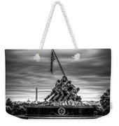 Iwo Jima Monument Black And White Weekender Tote Bag