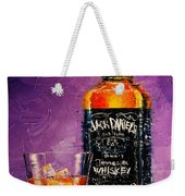 Still Life With Bottle And Glass Weekender Tote Bag