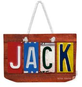 Jack License Plate Name Sign Fun Kid Room Decor Weekender Tote Bag