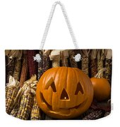 Jack-o-lantern And Indian Corn  Weekender Tote Bag