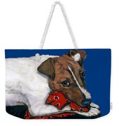 Jack Russell With A Red Bandana Weekender Tote Bag