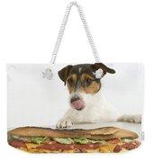 Jack Russell With Sandwich Weekender Tote Bag
