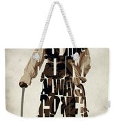 Jack Sparrow Inspired Pirates Of The Caribbean Typographic Poster Weekender Tote Bag