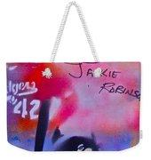 Jackie Robinson Red Weekender Tote Bag