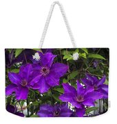 Jackmanii Purple Clematis Vine Weekender Tote Bag