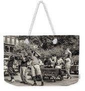 Jackson Square Jazz Sepia Weekender Tote Bag