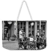 Jackson Square Reading 2 Bw Weekender Tote Bag