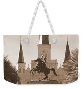 Jackson Square Statue In Sepia Weekender Tote Bag