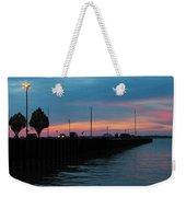 Jackson Street Pier - Sunset Weekender Tote Bag