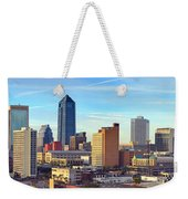 Jacksonville Skyline Morning Day Color Panorama Florida Weekender Tote Bag