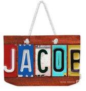 Jacob License Plate Name Sign Fun Kid Room Decor. Weekender Tote Bag