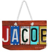 Jacob License Plate Name Sign Fun Kid Room Decor. Weekender Tote Bag