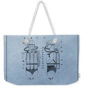Jacques Cousteau Diving Suit Patent Weekender Tote Bag